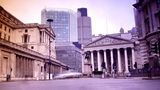 Rush Hour In London, View To The Bank stock footage