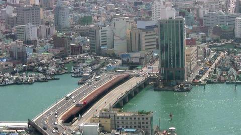 Temporary bridge Stock Video Footage