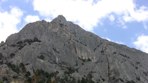 Clouds over the mountain Stock Video Footage