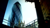 View Of Gherkin Building Time Lapse, Tilt Shift stock footage