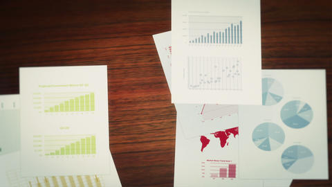 Business Charts and Infographics Seamless Background Loop Stock Video Footage