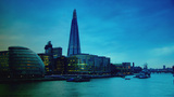 Twilight With The Shard And City Hall stock footage