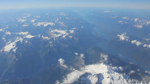 Aerial View Flying Over Canadian Rocky Mountains Stock Video Footage