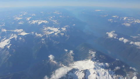 Aerial View Flying Over Canadian Rocky Mountains Footage