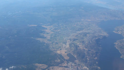 Aerial View Of Kelowna And Lake Okanagan Stock Video Footage