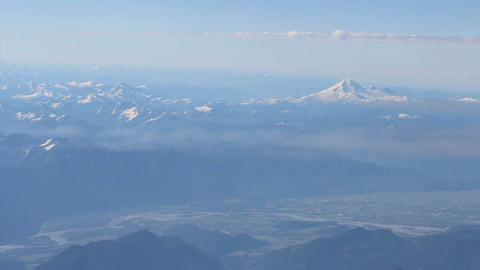 Aerial View Of Mount Baker And Fraser Valley Stock Video Footage