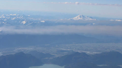 Aerial View Of Mount Baker And Fraser Valley Footage