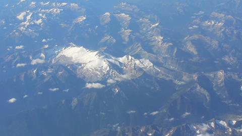 Aerial View Of Snow Capped Mountain In Rocky Mountains Stock Video Footage