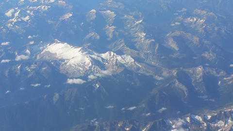 Aerial View Of Snow Capped Mountain In Rocky Mountains Footage