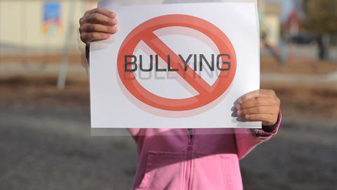 Anti Bullying Sign large Stock Video Footage