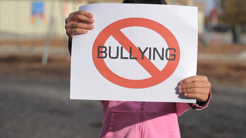 Anti Bullying Sign large Footage