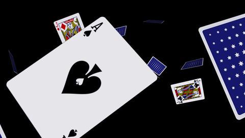 Playing Cards - Flying Loop II Stock Video Footage