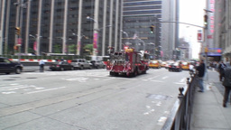 Manhattan Fire Engine Stock Video Footage
