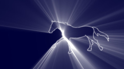 HORSE IN VOLUMETRIC LGHTS Animation