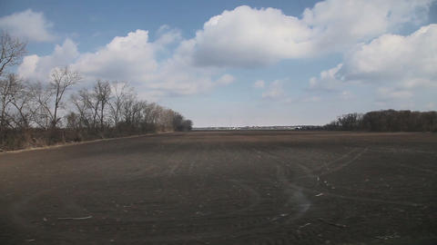 Country landscape view from moving train, Austria Stock Video Footage