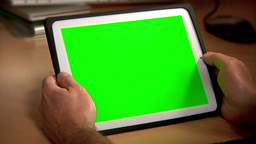 Tablet PC Chroma Key Stock Video Footage