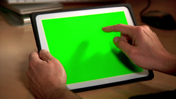 Tablet PC Chroma Key stock footage