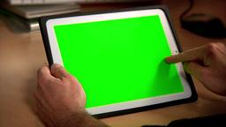 Tablet PC Chroma Key Stock Video Footage
