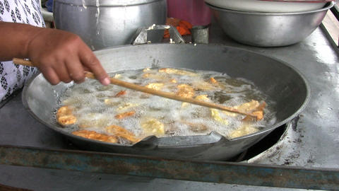 Deep Frying Bananas Stock Video Footage