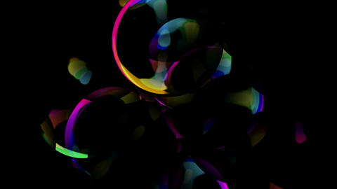 blister,ray light,glass ball,color soap... Stock Video Footage