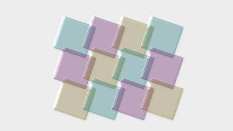 color transparent papers,PH test strip,plastic mosaics,3d... Stock Video Footage