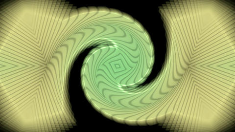 rotation curve pattern,spiral turbine tunnel,swirl gear in space,Tai Chi pattern Animation