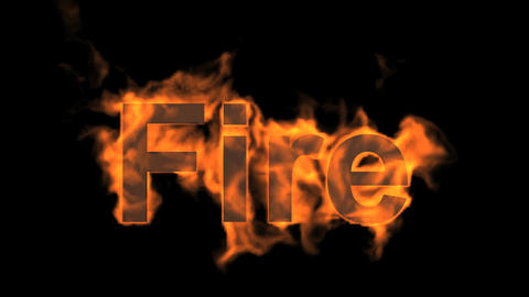 burning fire word Animation