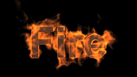 burning fire word Animation