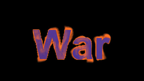 fire blue war text,fire word Stock Video Footage