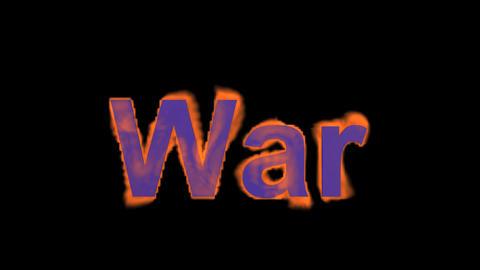 fire blue war text,fire word Stock Video Footage