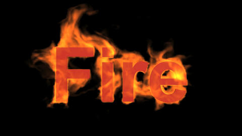 burning fire word Stock Video Footage