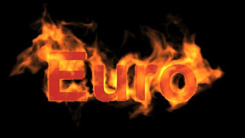flame Euro text Animation