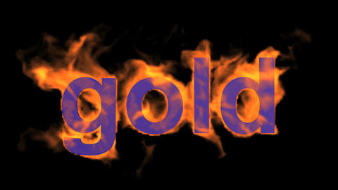 fire gold word Stock Video Footage