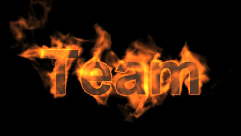 team text,fire business key words Animation