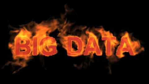 flame big data word,fire text Stock Video Footage