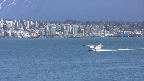 Float Plane Landing Stock Video Footage