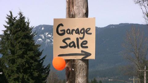 Garage Sale Sign Stock Video Footage