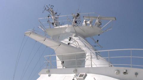 Radar on a big ship Stock Video Footage