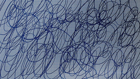 Ballpoint Scribbling on Paper Animation