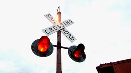 Railroad Crossing Stock Video Footage