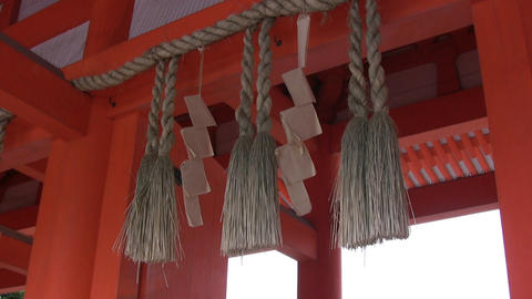 Chinese decoration roof Stock Video Footage
