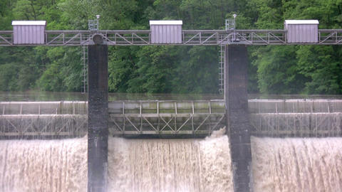 Technical dam Stock Video Footage