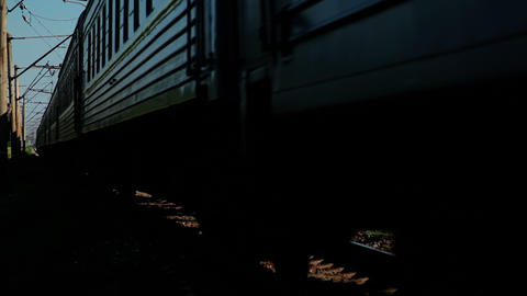 Long distance trains Stock Video Footage