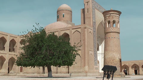 Mosque and Minaret at Chor Bakr Complex in Sumitan near... Stock Video Footage