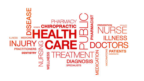 Health Care Word Cloud Animation Animation