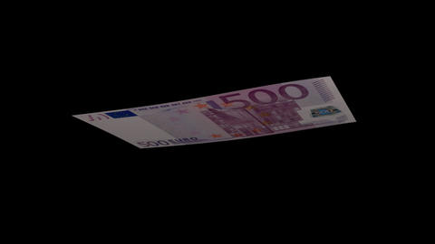500 EUR Bill - 3D Diagonal Spinning Loop Stock Video Footage