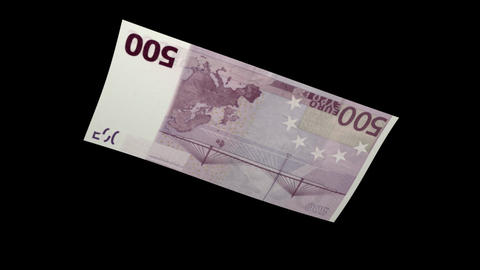 500 EUR Bill - 3D Diagonal Spinning Loop Stock Video Footage