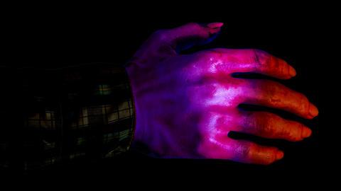 Horror Bloody Hand - Loop + Alpha Stock Video Footage