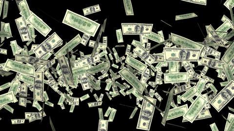 Money Explosion - 100 USD Bills - I Stock Video Footage