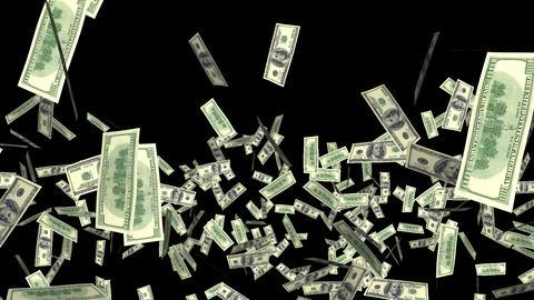 Money Explosion - 100 USD Bills - I Animation